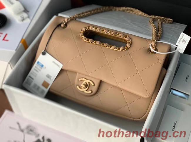 Chanel Flap Bag Original Sheepskin Leather AS1466 apricot