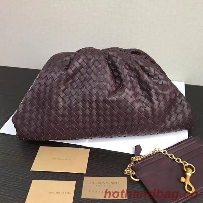 Bottega Veneta Weave Clutch bag 585853 dark purple