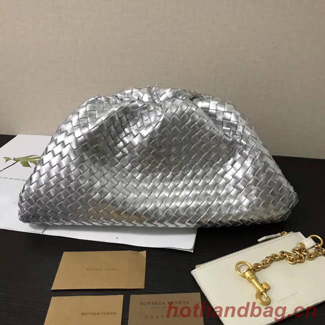 Bottega Veneta Weave Clutch bag 585853 silver