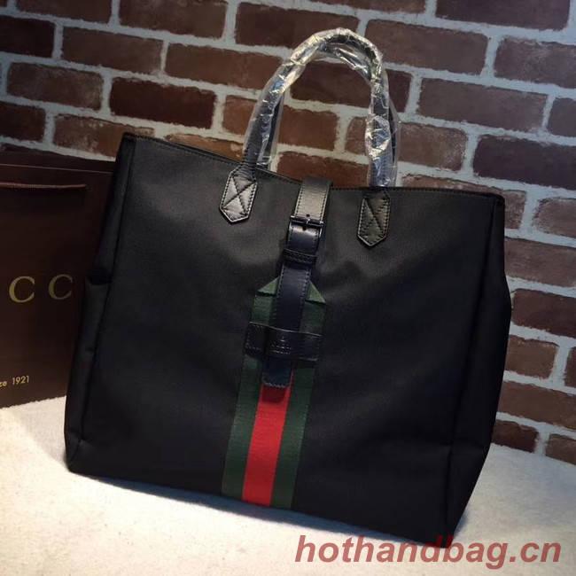 Gucci GG Supreme canvas top handle bag 337069 black