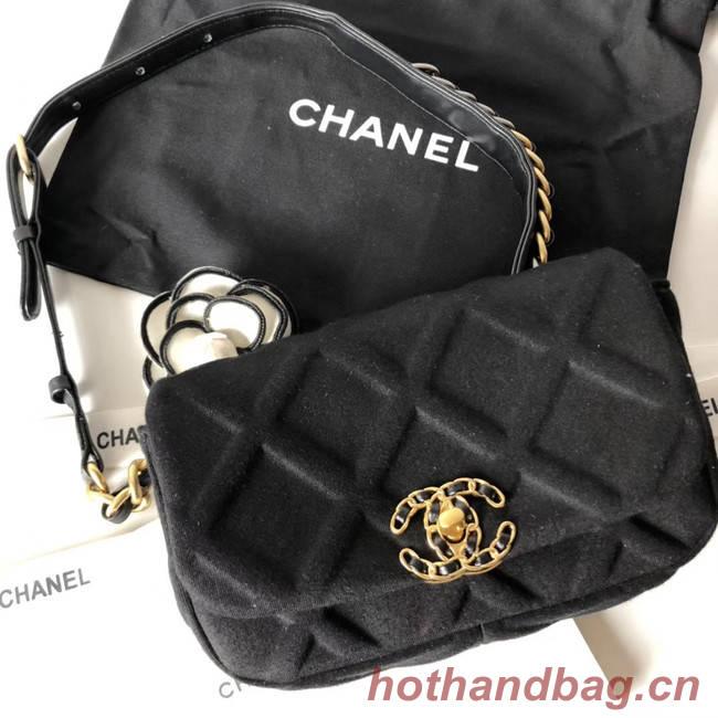Chanel 19 Bodypack AS1163 black