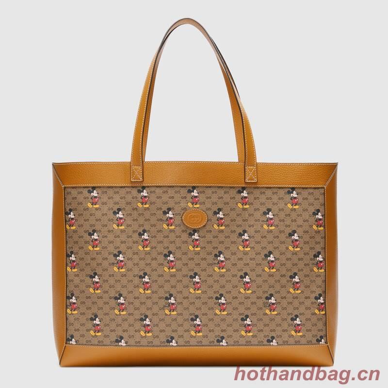 Gucci Disney x Gucci medium tote 547947 light brown