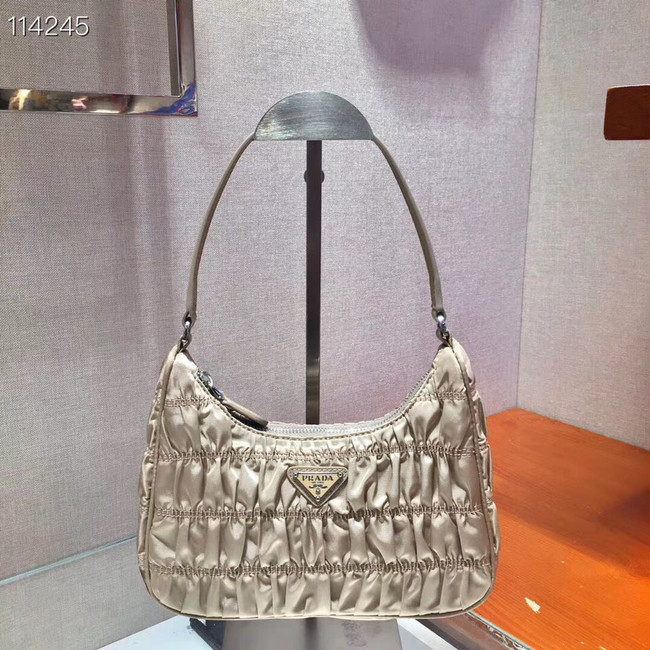 Prada Nylon and Saffiano leather mini bag 1NE204 apricot