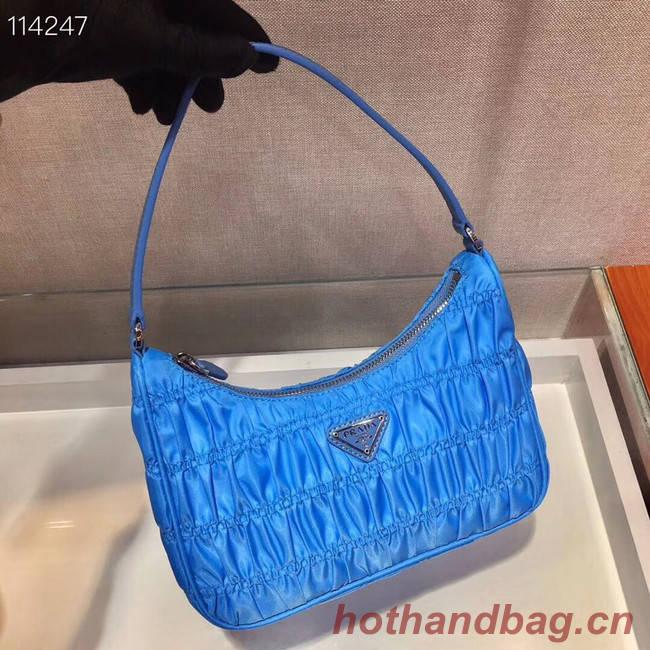 Prada Nylon and Saffiano leather mini bag 1NE204 blue