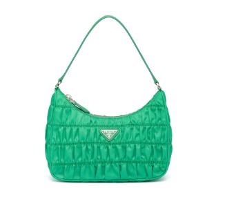 Prada Nylon and Saffiano leather mini bag 1NE204 green