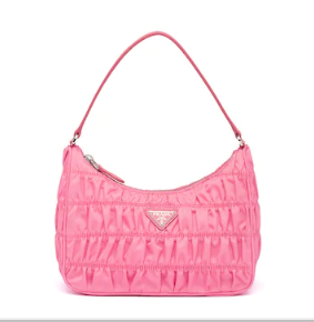 Prada Nylon and Saffiano leather mini bag 1NE204 pink