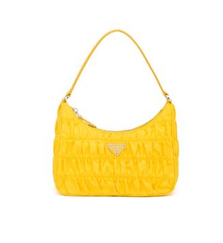 Prada Nylon and Saffiano leather mini bag 1NE204 yellow
