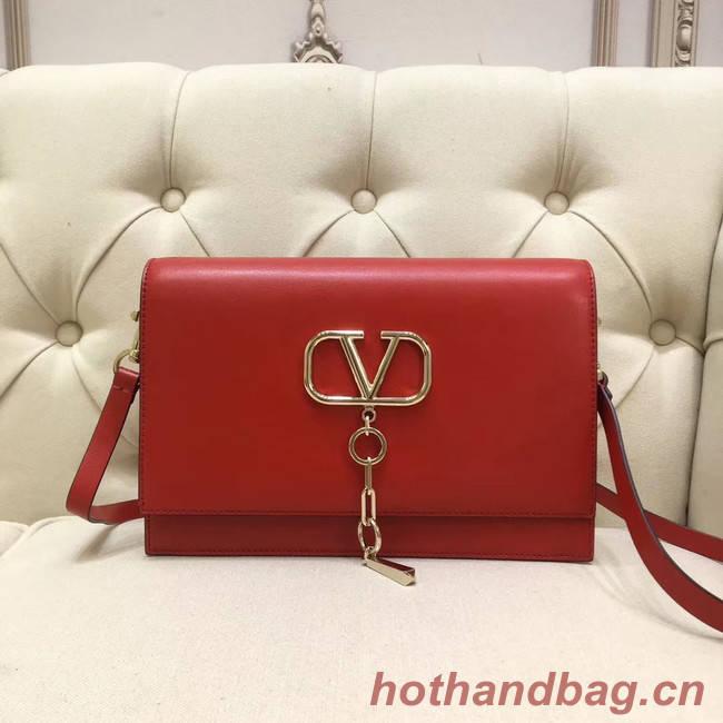VALENTINO VLOCK Origianl leather shoulder bag 0909 red
