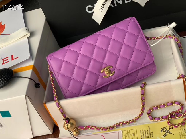 Chanel MINI Flap Bag Original Sheepskin Leather 33814 Lavender