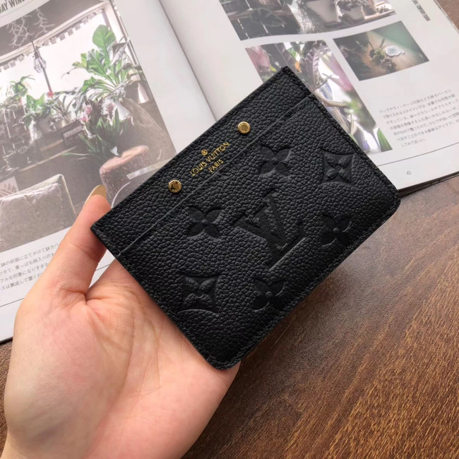 Louis vuitton original CARD HOLDER M69171 black