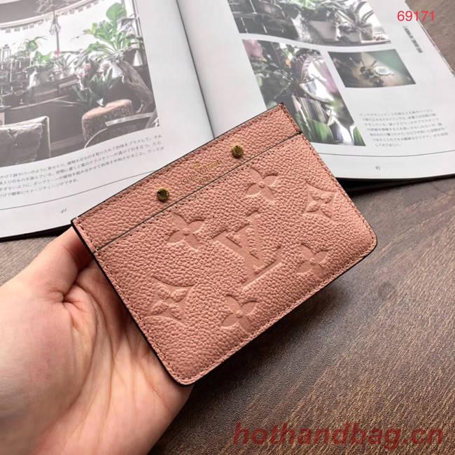 Louis vuitton original CARD HOLDER M69171 pink