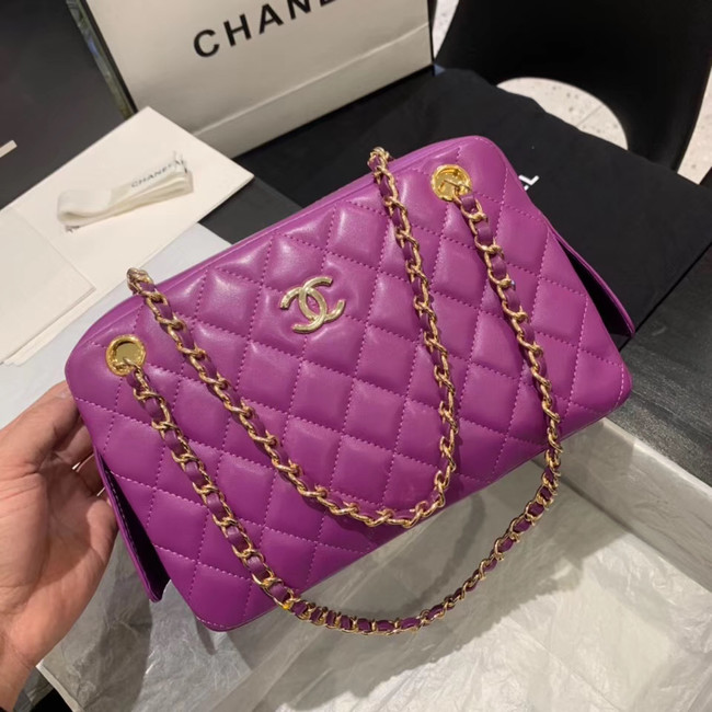 CHANEL 2020 New Style Original Leather AS1168 Lavender