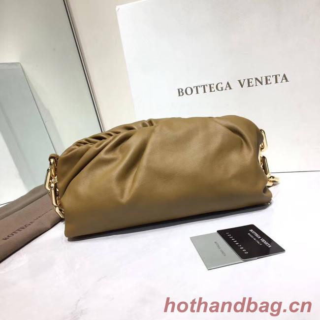 Bottega Veneta Nappa lambskin soft Shoulder Bag 620230 Khaki