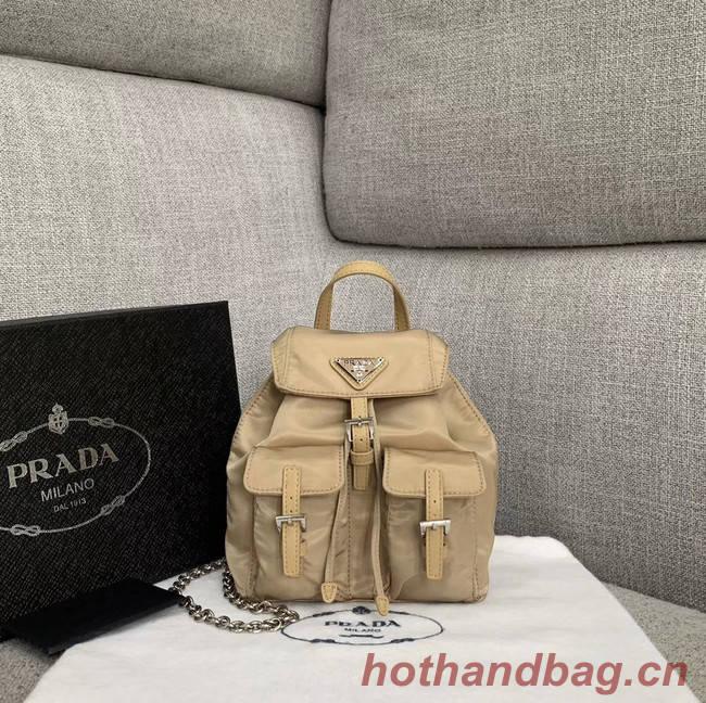 Prada Nylon mini backpack 1BH029 apricot
