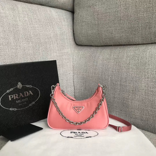 Prada Re-Edition 2005 nylon mini shoulder bag 1BH203 pink