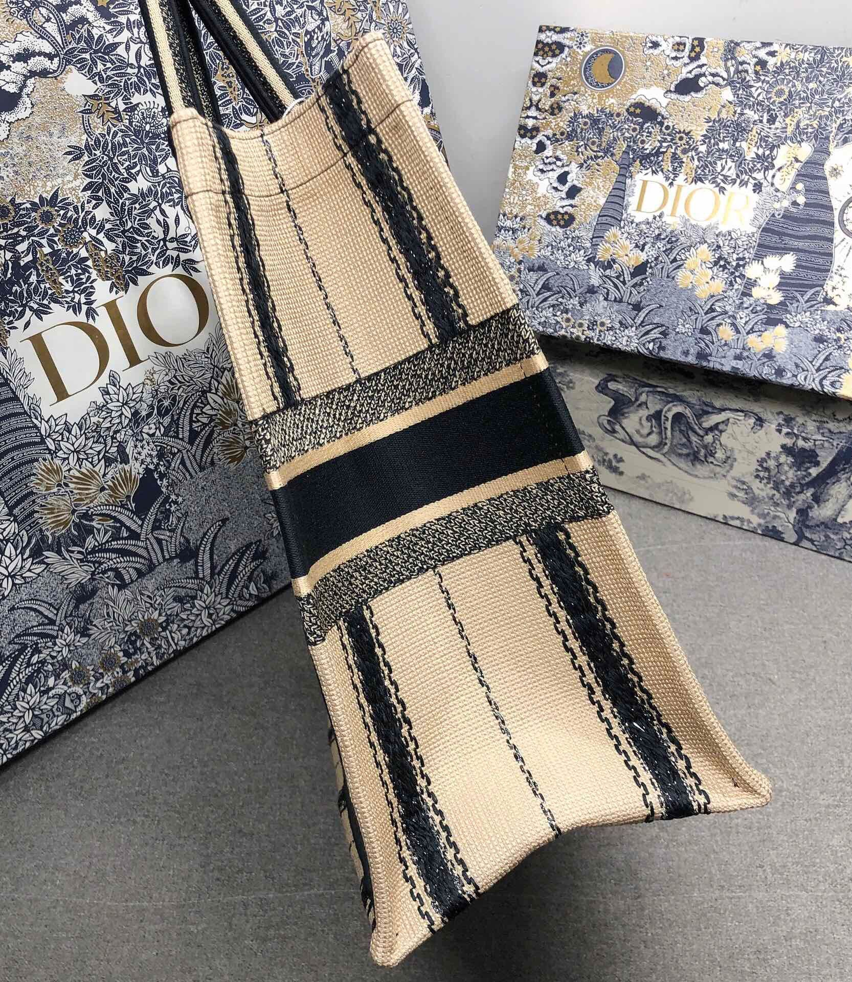 DIOR BOOK TOTE EMBROIDERED CANVAS BAG M1287-9
