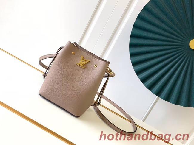Louis Vuitton NANO LOCKME BUCKET M68709 cream