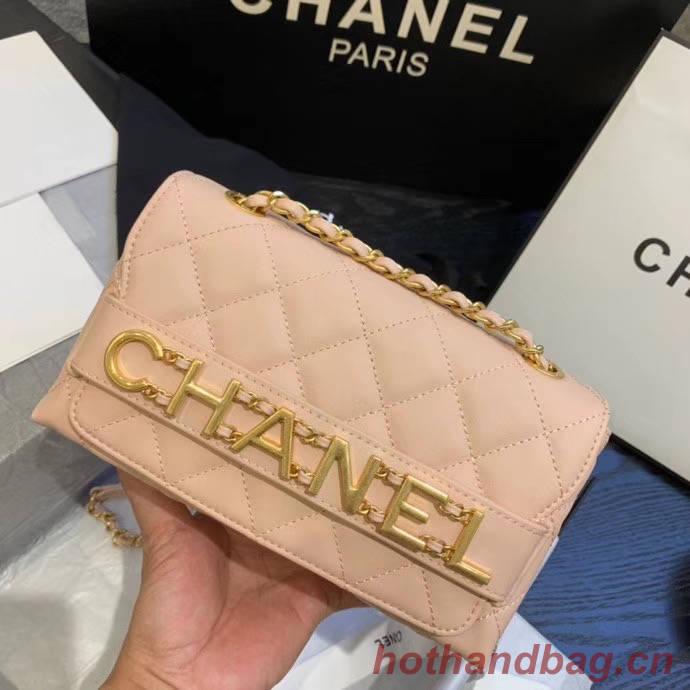 Chanel small Flap Bag Original Sheepskin Leather AS1490 light pink