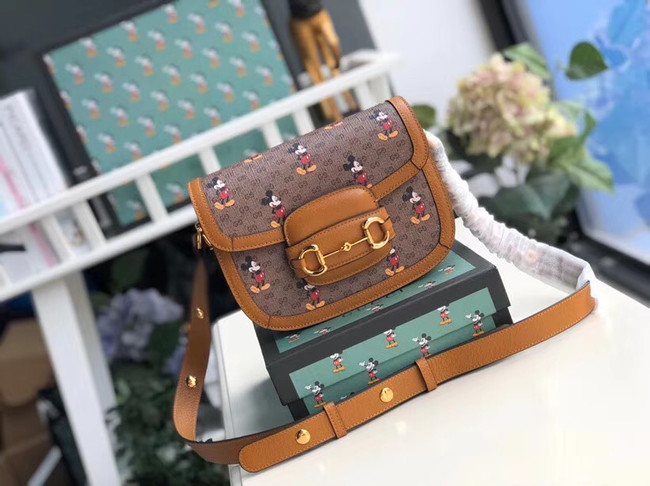 Gucci Disney x Mickey Mouse Small Shoulder Bag 602205 Brown