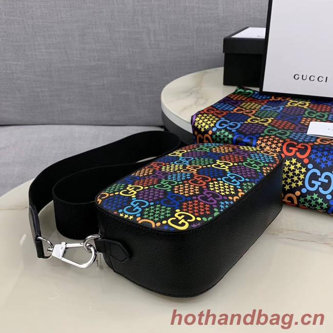 Gucci GG Psychedelic Canvas Messenger Bag 574886 black