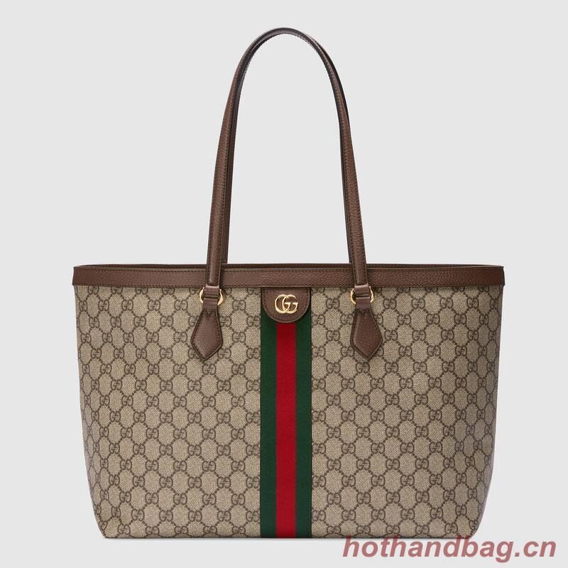 Gucci Ophidia series medium GG Tote Bag 631685 brown