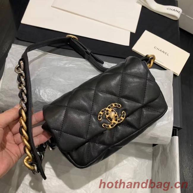 Chanel 19 Bodypack Sheepskin Leather AS1163 black