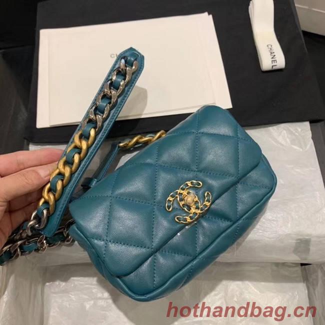 Chanel 19 Bodypack Sheepskin Leather AS1163 blue