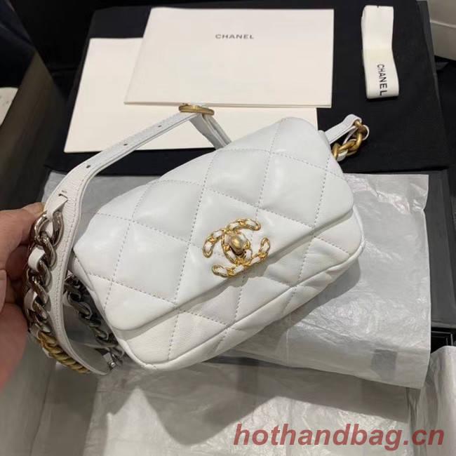 Chanel 19 Bodypack Sheepskin Leather AS1163 white