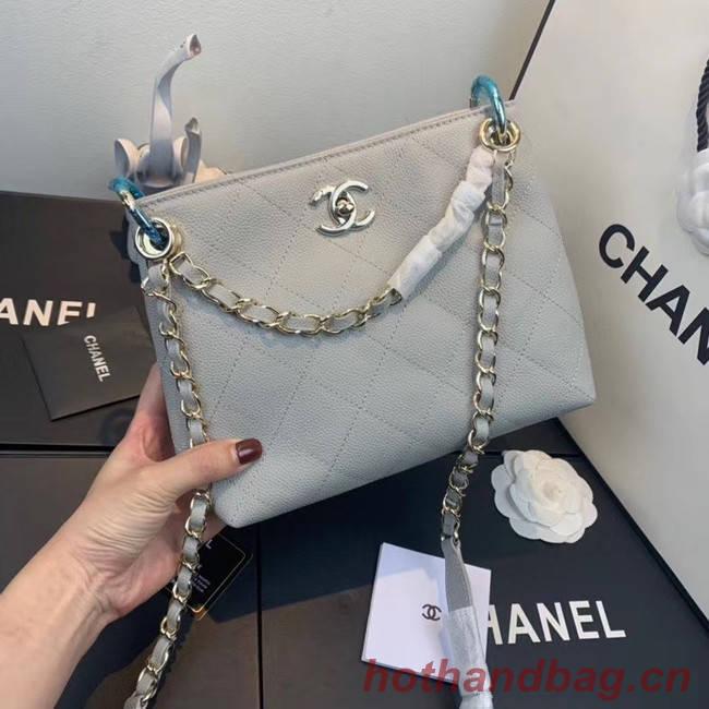 Chanel Small Calfskin hobo bag AS1461 grey