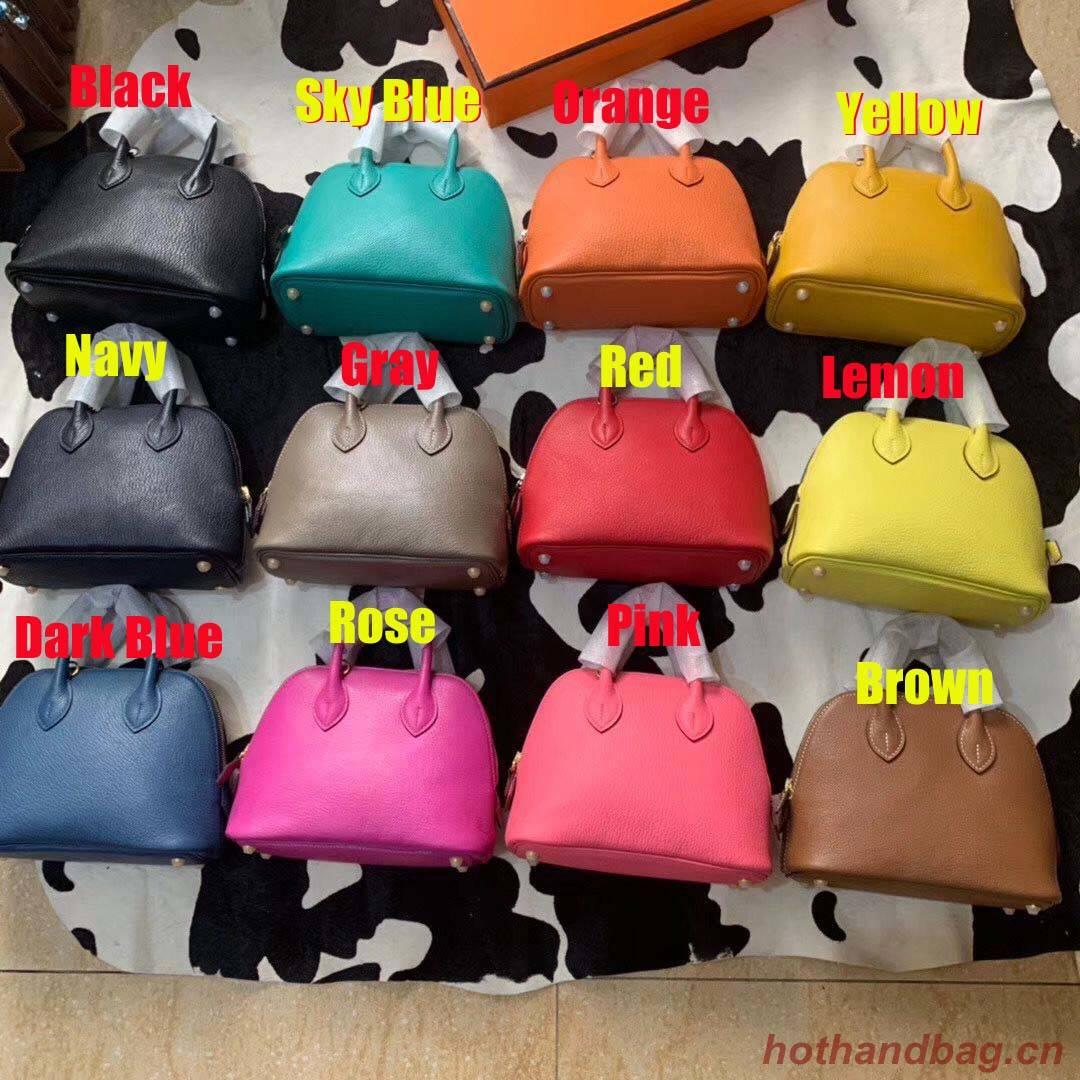 Hermes Bolide 18CM Mini Sheepskin Leather Tote Bag B3388