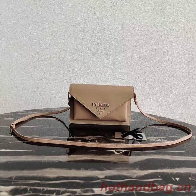 Prada Saffiano leather mini-bag 1BP020 apricot