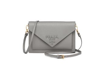 Prada Saffiano leather mini-bag 1BP020 grey