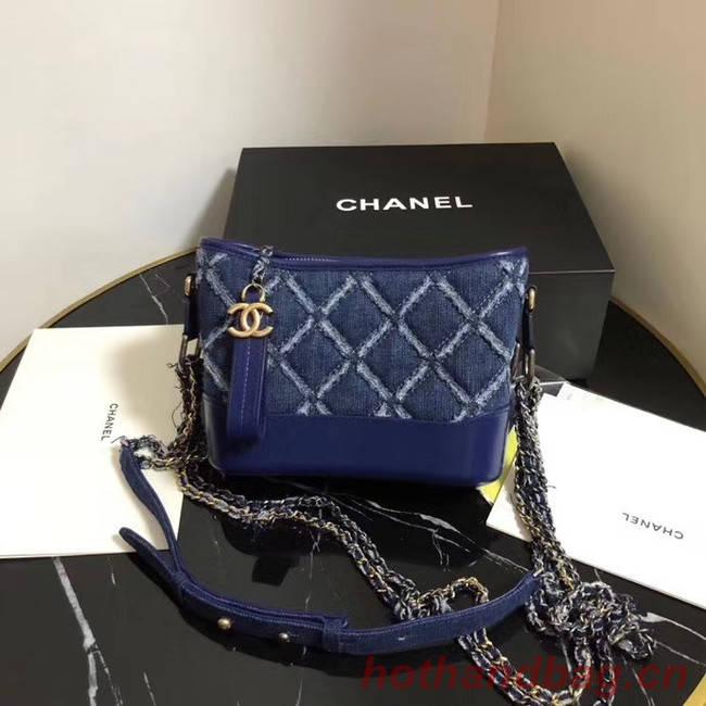 Chanel gabrielle small hobo Denim bag A91810 blue