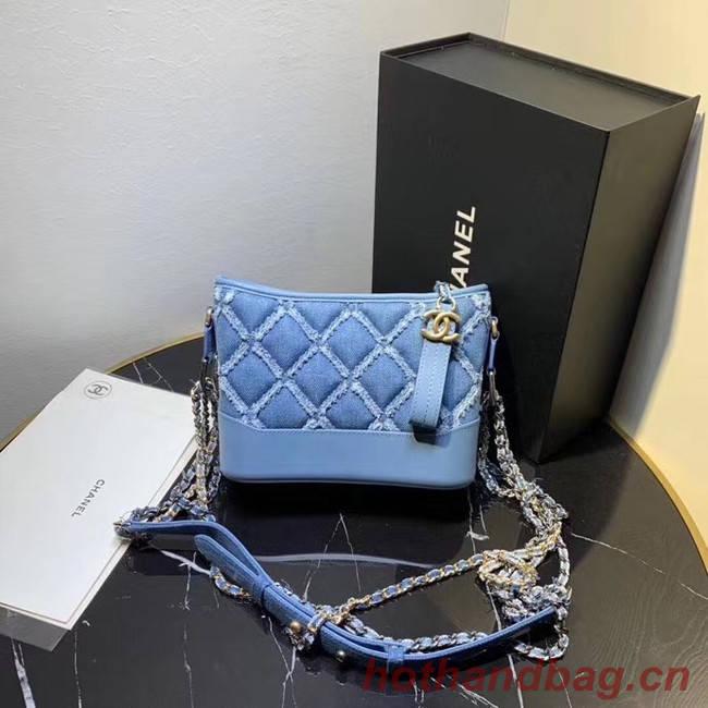 Chanel gabrielle small hobo Denim bag A91810 light blue