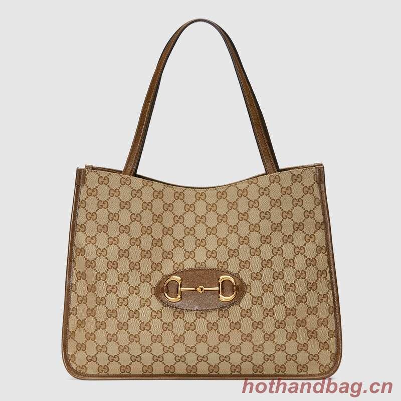 Gucci 1955 Horsebit tote bag 623694 Brown