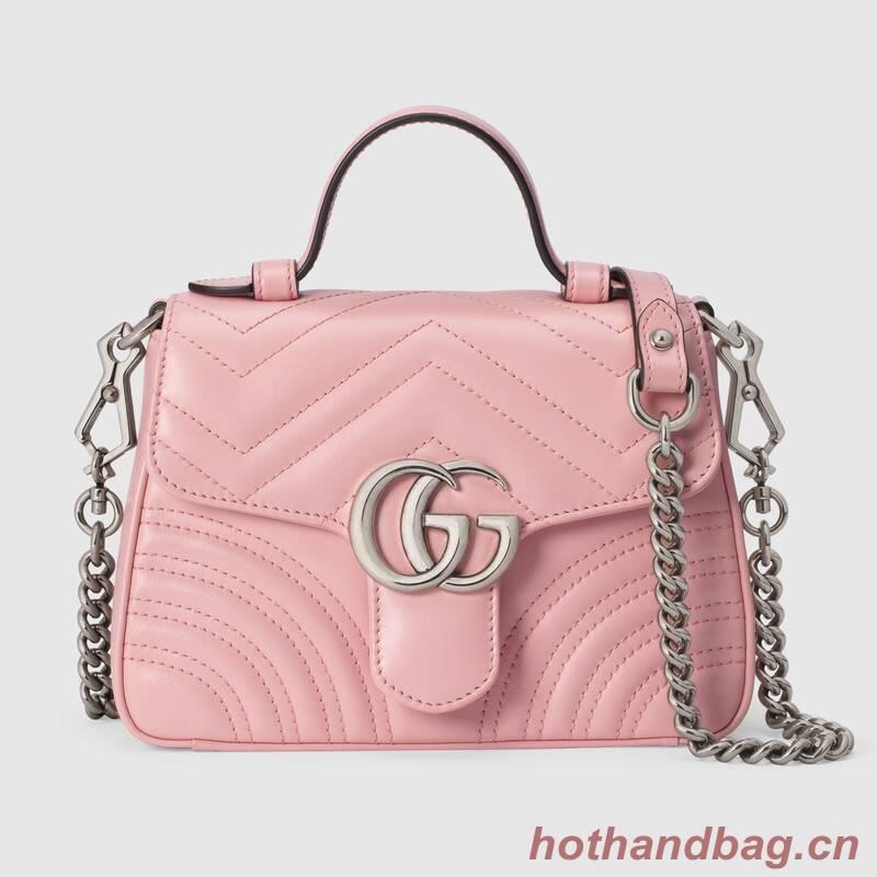 Gucci GG Marmont mini top handle bag 547260 pink