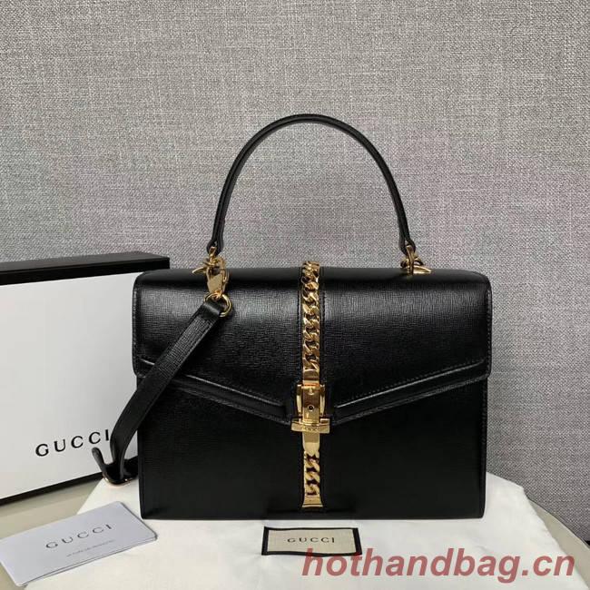 Gucci Sylvie 1969 small top handle bag 602781 black