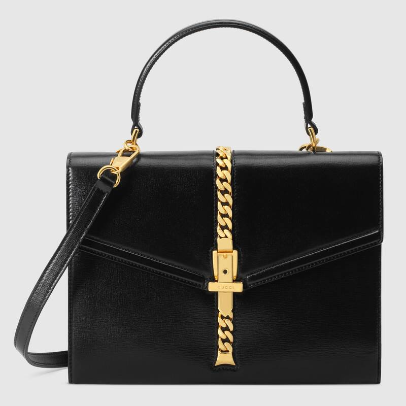 Gucci Sylvie 1969 small top handle bag 602781 black