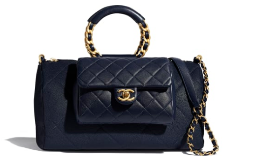 CHANEL Bowling Bag AS1359 Navy