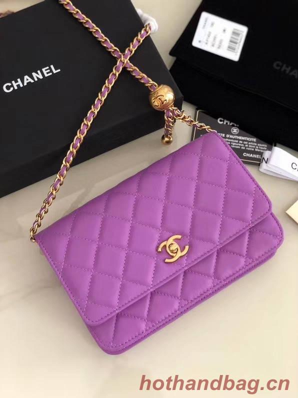 Chanel Original Small classic Sheepskin flap bag AS33814 Lavender
