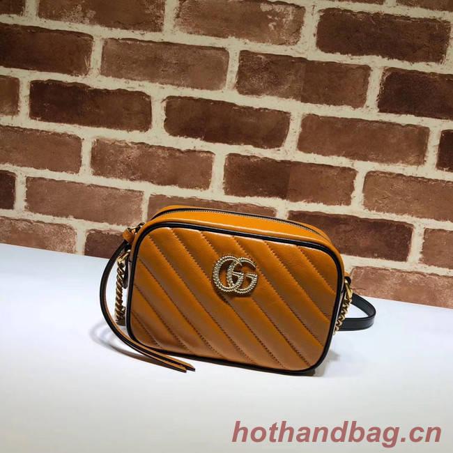 Gucci GG Marmont Matelasse mini Bag 448065 brown