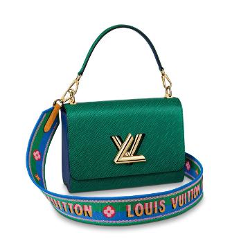 Louis Vuitton twist medium tote bag M55851 Emerald