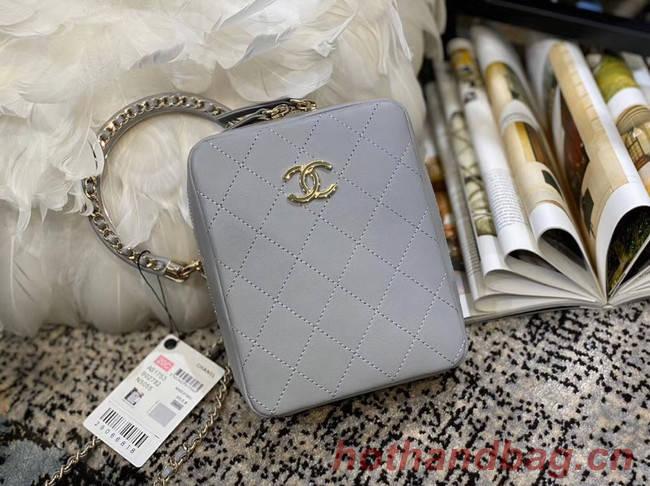 Chanel Original Small Sheepskin camera bag AS1753 grey