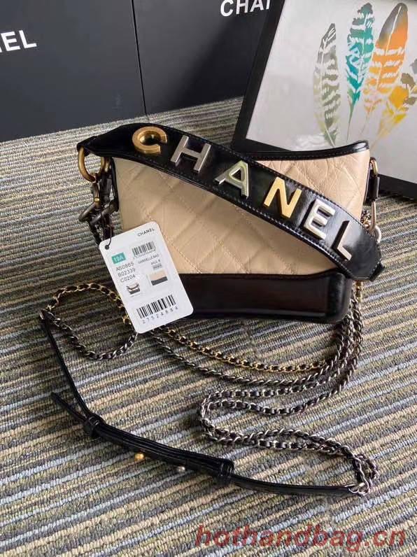 Chanel gabrielle small hobo bag S0865 apricot&black