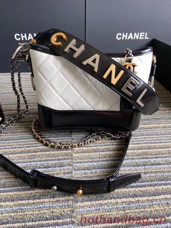 Chanel gabrielle small hobo bag S0865 white&black
