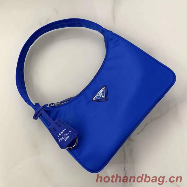 Prada Re-Edition 2000 nylon mini-bag 1NE515 Electro optic blue