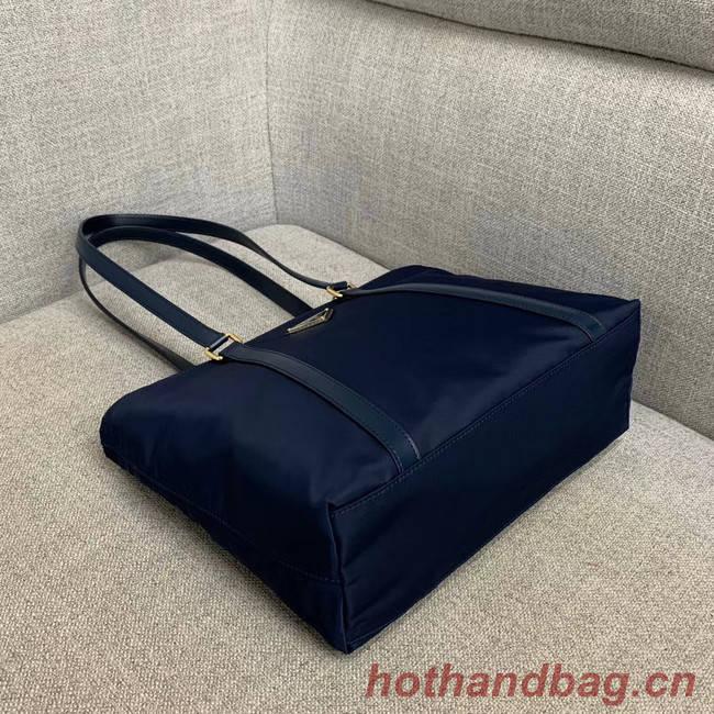 Prada Re-Edition 2000 nylon tote bag 91743 dark blue