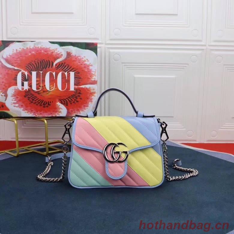 Gucci GG Marmont mini top handle bag 547260 Multicolored