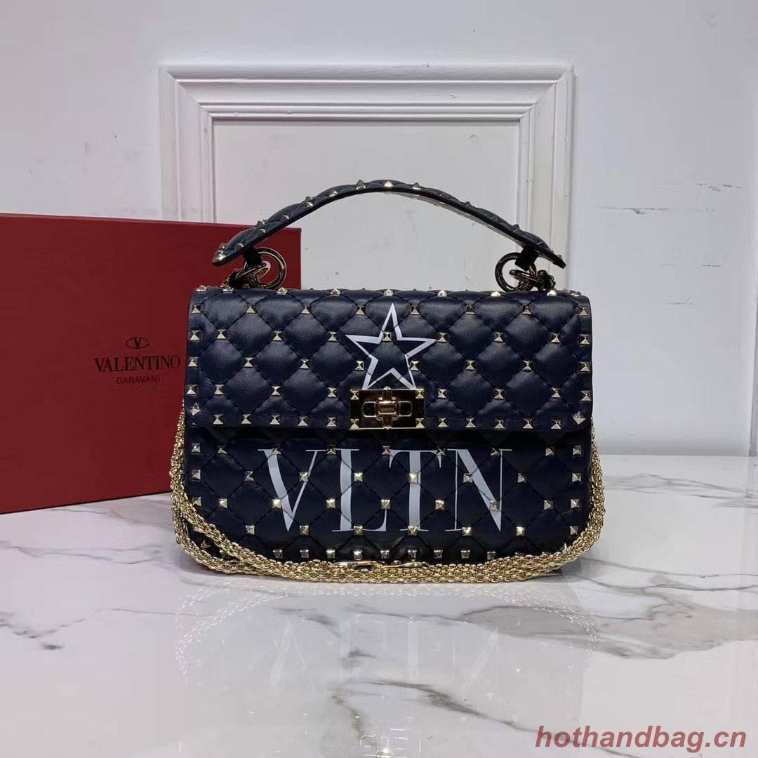 VALENTINO Origianl leather shoulder bag V0122H Pentagram Black