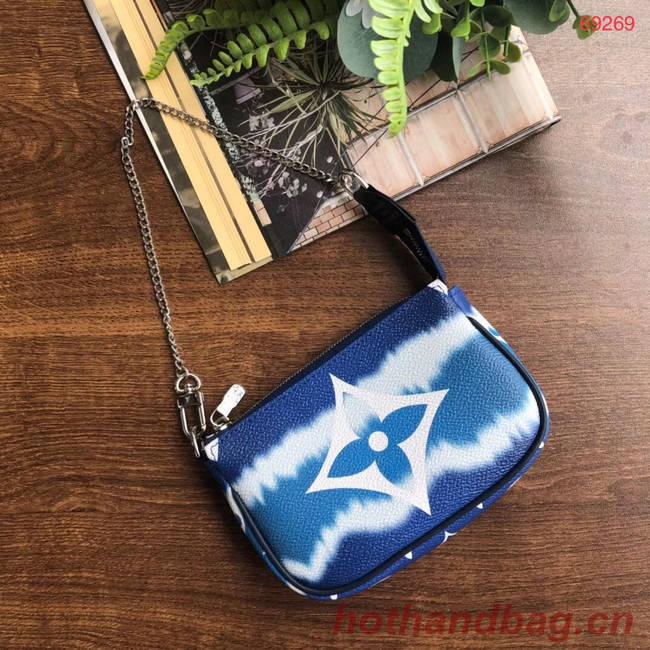 Louis vuitton ESCALE POCHETTE ACCESSOIRES Mini clutch bag M69269 blue